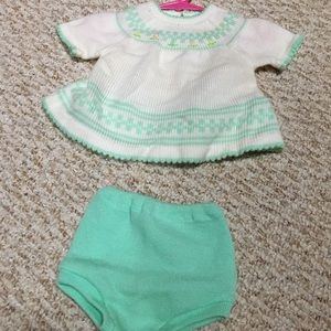 Vintage 0-6 month baby sweater set